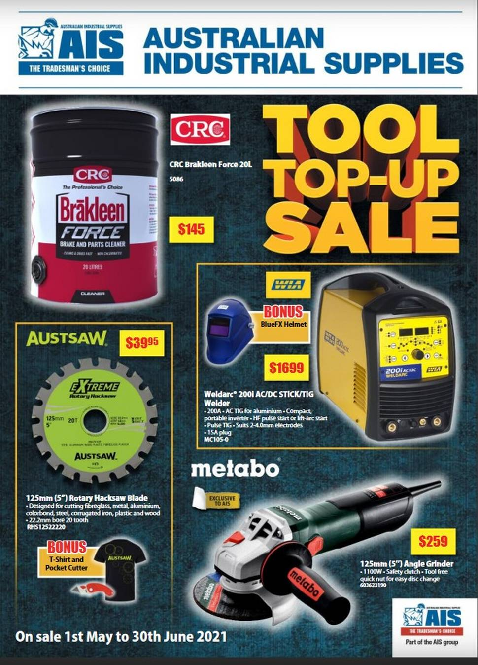 The AIS Summer Tools Catalogue is now available to download at swti.com.au